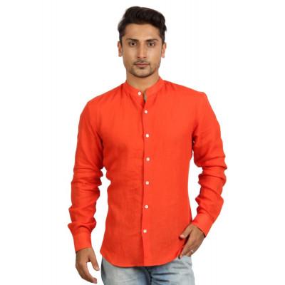 Mayank Modi Bright Orange Shirt