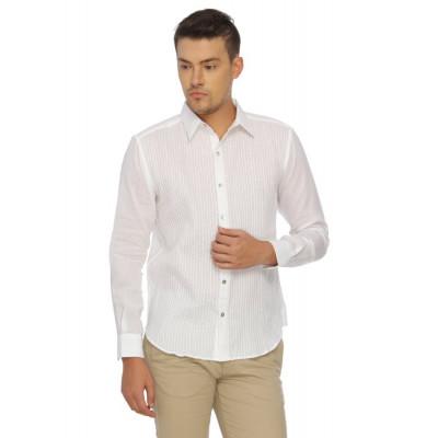 Mayank Modi Criss Cross White Shirt