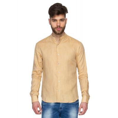 Mayank Modi Beige Linen Shirt