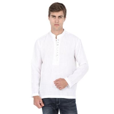 Mayank Modi White Short Kurta