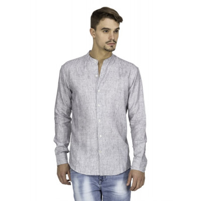 Mayank Modi Heathered Grey Shirt
