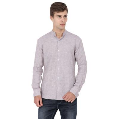 Mayank Modi Heathered Linen Shirt