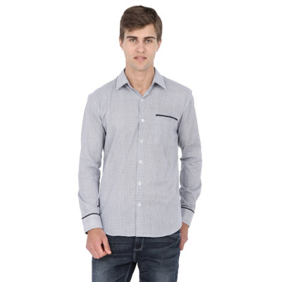 Mayank Modi Checkered Blue Shirt