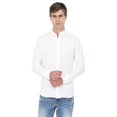 Mayank Modi White Cotton Shirt