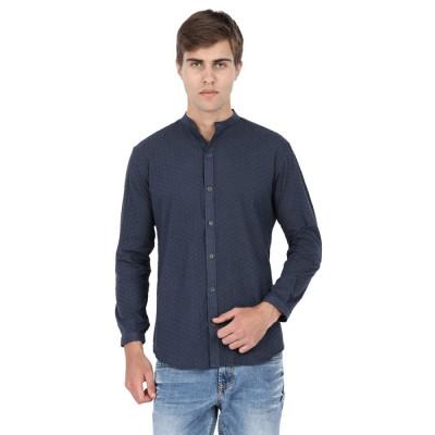 Mayank Modi Hakoba Blue Shirt
