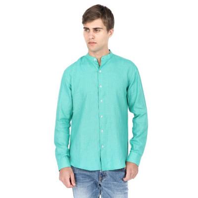Mayank Modi Aqua Blue Casual Shirt