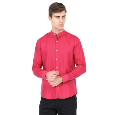 Mayank Modi Pink Checkered Shirt