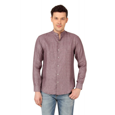 Mayank Modi Red Micro Checkered Casual Shirt