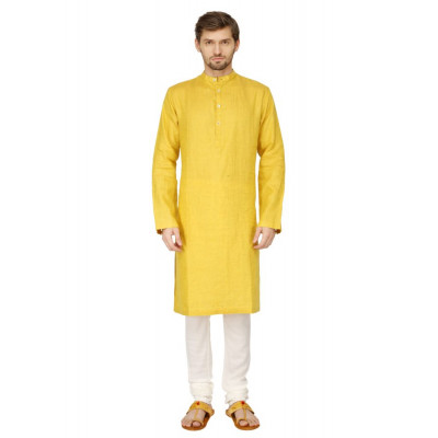 Mayank Modi Yellow Kurta Churidar Set