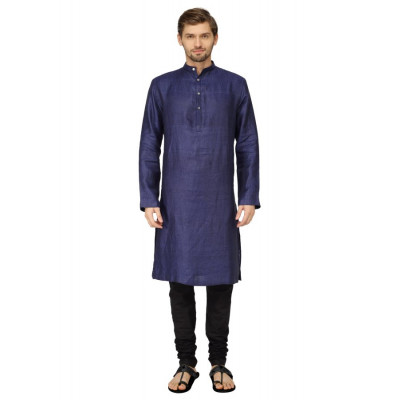 Mayank Modi Royal Blue Kurta Churidar Set