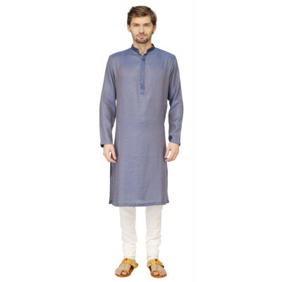 Mayank Modi Blue Kurta Churidar Set