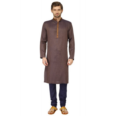 Mayank Modi Brown Kurta Churidar Set