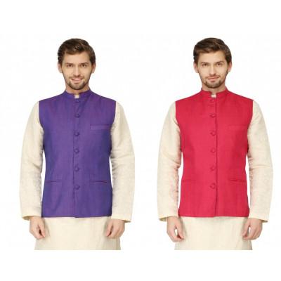 Mayank Modi Reversible Purple Nehru Jacket