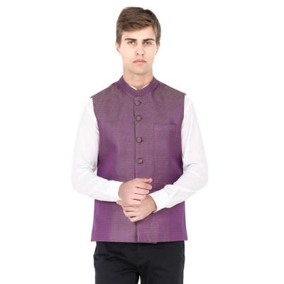 Mayank Modi Purple Nehru Jacket