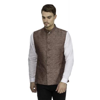 Mayank Modi Brown Nehru Jacket