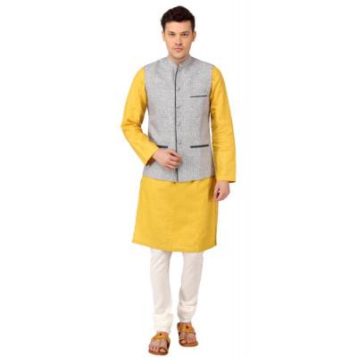 Mayank Modi Blue Nehru Jacket