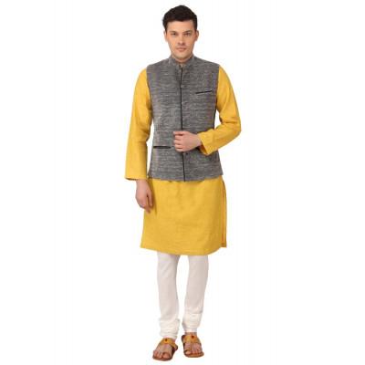 Mayank Modi Grey Nehru Jacket