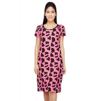 Nuteez 'Moo' Cow Skin Print Long Tank Top