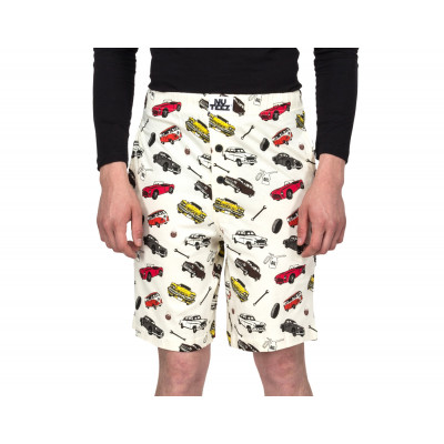 Nuteez Drive Away Printed Shorts