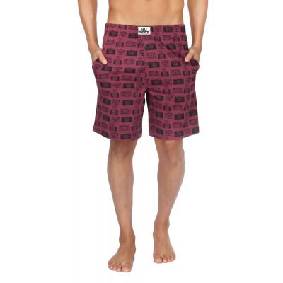 Nuteez Camera Printed Shorts