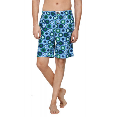 Nuteez Cards Printed Shorts
