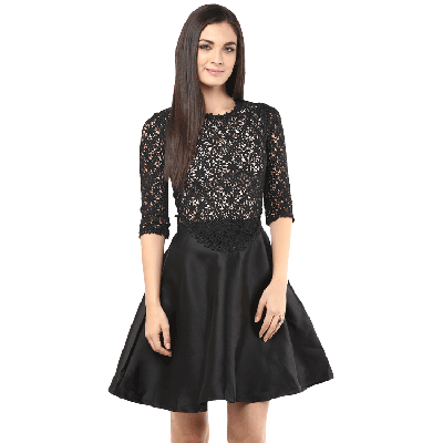 Remanika Laced Knitted Dress
