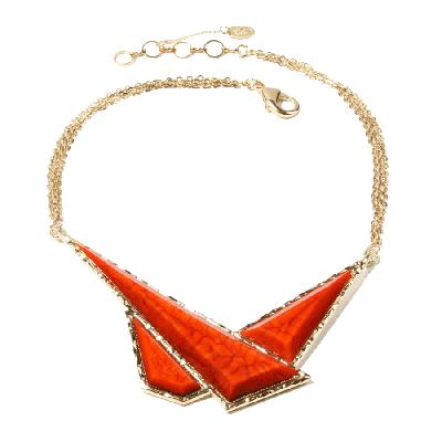 Amrita Singh Geo Triangle Bib Necklace