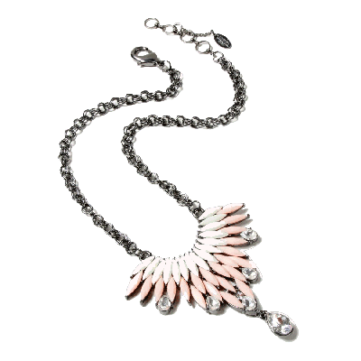 Amrita Singh Joan White and Pink Pendant Necklace