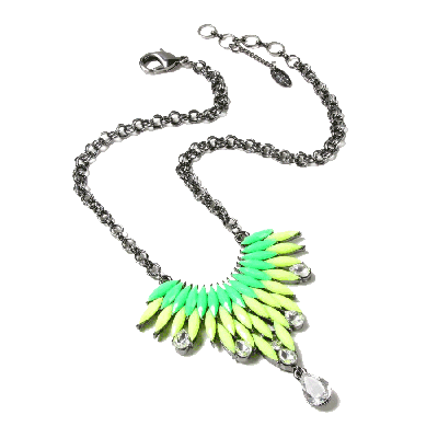Amrita Singh Joan Green and Yellow Pendant Necklace