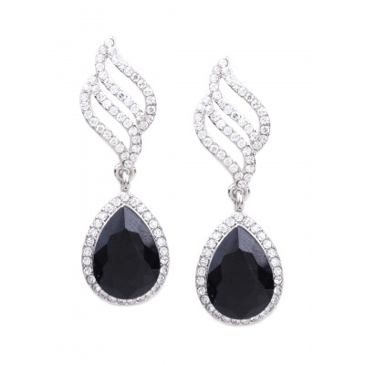 Rubans Black Stone Earrings