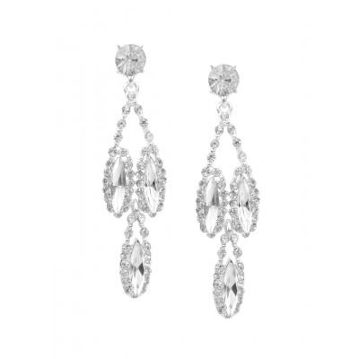 Rubans White Stone Earrings