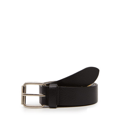 Camelio Plaid Leather Belt
