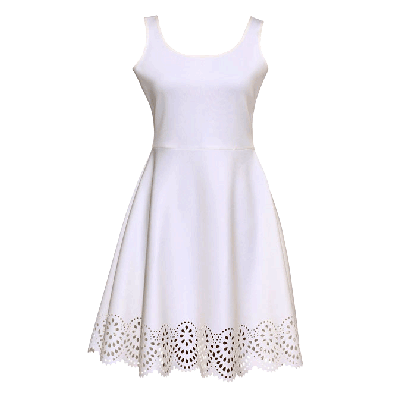 Manoviraj Khosla White Sleeveless Dress