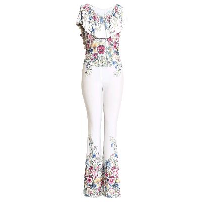 Manoviraj Khosla Floral Print Jumpsuit