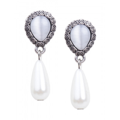 Rubans Pearl Dangler Earrings
