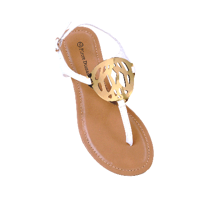 Pierre Dumas Flat Sandals with Cutwork Detail