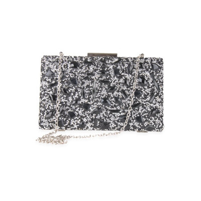 Rubans Black Stone Clutch