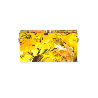 Rubans Yellow Fashion Clutch
