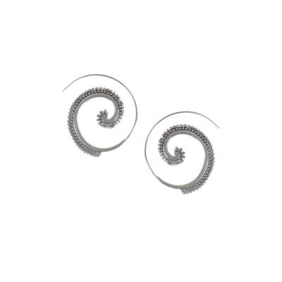 Rubans Silver Spiral Earrings