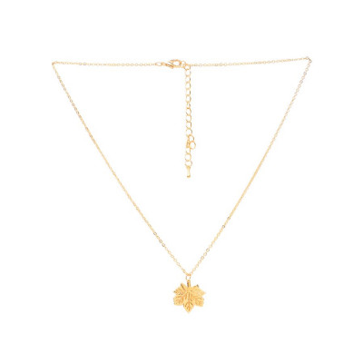 Rubans Gold Leaf Pendant Chain
