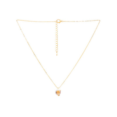Rubans Gold Gemstone Pendant Chain