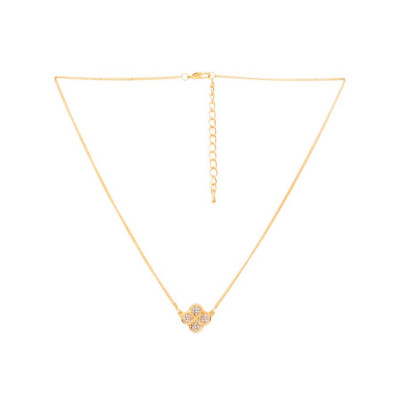 Rubans Gold Studded Pendant Chain
