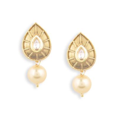 Rubans Leafy Pearl Earrings