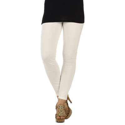 Uptown Galeria White Cotton Leggings