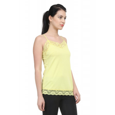 Uptowngaleria Yellow Lace Camisole