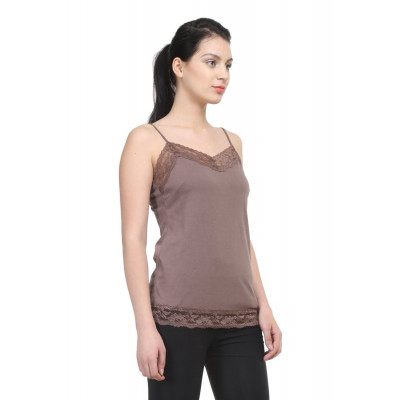 Uptowngaleria Brown Lace Camisole