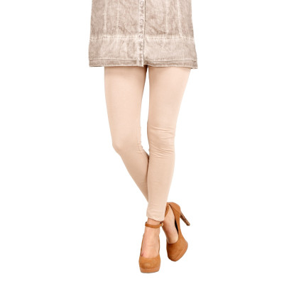 Uptown Galeria Cream Cotton Leggings