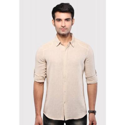 Sandeep Mahajan James Dean Beige Casual Shirt