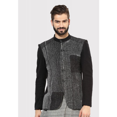 Sandeep Mahajan Black Kantha Jacket