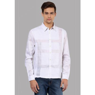 Sandeep Mahajan Shadow White Cotton Shirt